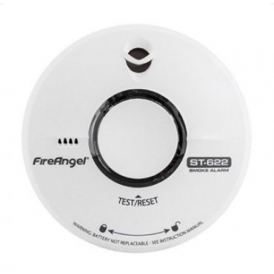 Fire Angel rookmelder ST-622 Thermoptek 3V Lithium panasonic